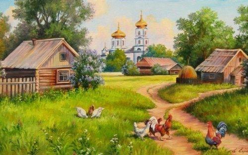 Коллективная работа «Сельские пейзажи»