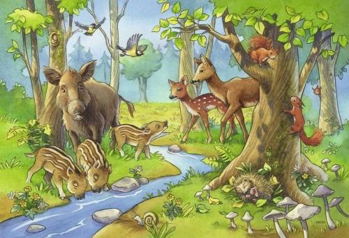 """Выставка рисунков и поделок в детском саду """"Необыкновенный мир животных""""."""