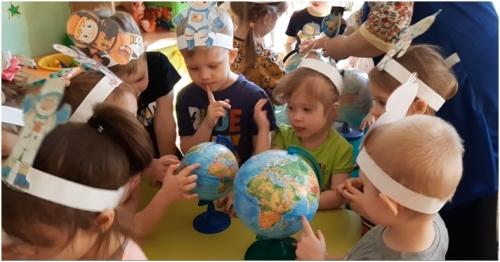 """Познавательное занятие """" Голубая планета-Земля"""" прошло у детей группы№ 6 """" Орешки"""""""