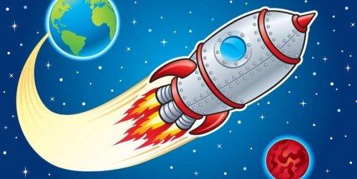 """НОД """" ХЭР"""" ( Аппликация)  на тему: """" Ракета в космосе"""""""