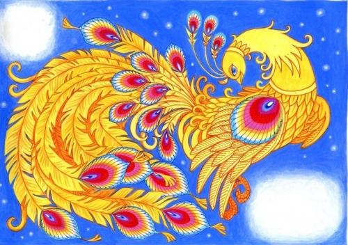 """НОД (ХЭР) (аппликации с элементами рисования)   коллективная работа  """"Сказочная птица"""""""